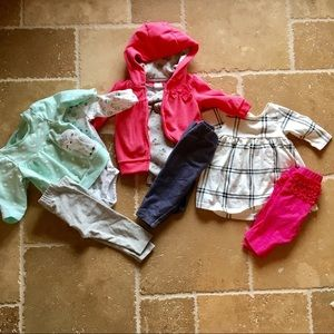 8 piece baby girl bundle